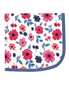 Baby Girls and Boys Garden Floral Swaddle, Receiving and Multi-purpose Blanket