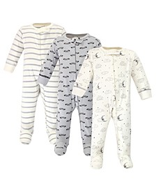 Baby Girls and Boys Mr Moon Sleep and Play, Pack of 3