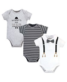 Baby Boys Mommys Man Bodysuits, Pack of 3
