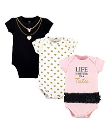 Baby Girls and Boys Life In Tutu Bodysuits, Pack of 3