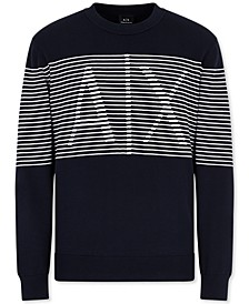 Men's Striped Logo Sweater