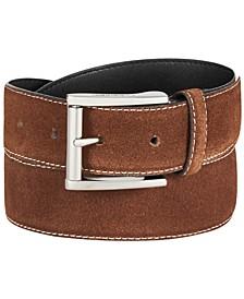 Men's Feather-Edge Leather Belt