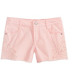 Big Girls Crochet Inset Shorts, Created for Macy's