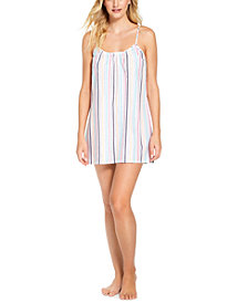 Jenni Striped Chemise Nightgown, Created for Macy's