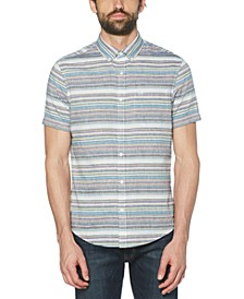 Men's Heritage Slim-Fit Engineered Stripe Shirt
