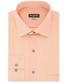 Men's Classic/Regular Fit Flex Collar Stretch Check Dress Shirt