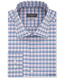 Men's Classic-Fit Flex Collar Ocean Check Dress Shirt