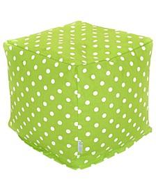 """Small Polka Dot Ottoman Pouf Cube 17"""" x 17"""""""