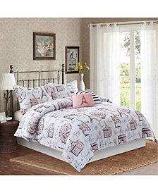 Bloom by Sara Berrenson Margaux 5-Piece Comforter Set, Full/Queen