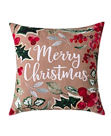"Merry Christmas Decorative Pillow, 20"" x 20"""