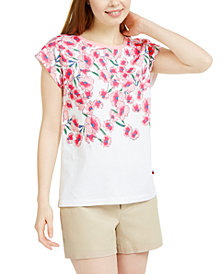 Tommy Hilfiger Placed-Print Top