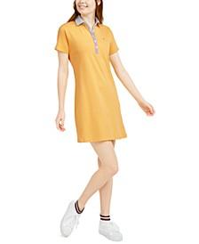 Polo-Neck Mini Dress