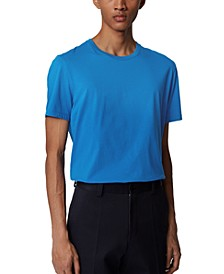 BOSS Men's Tiburt 55 Medium Blue T-Shirt