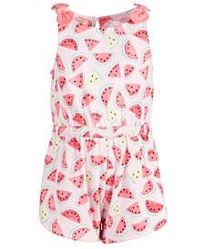 Baby Girls Cotton Watermelon Romper, Created for Macy's