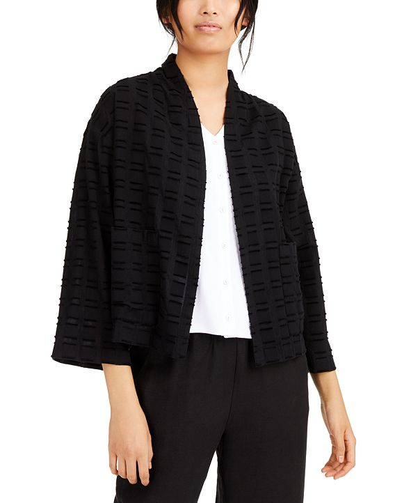 Eileen Fisher Organic Cotton Textured Kimono Jacket