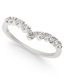 Diamond Contour Band (1/4 ct. t.w.) in 14k White Gold