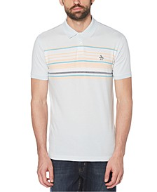 Men's Enigneered Stripe Polo Shirt