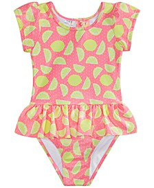 Little Girls 1-Pc. Lemons & Sunshine Bathing Suit