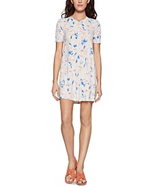 Floral-Print Swing Dress