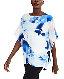 Petite Printed Dolman-Sleeve Top, Created for Macy's