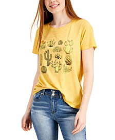 Juniors' Cacti Graphic T-Shirt