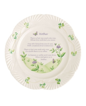 Belleek Pottery Mothers Blessing Plate