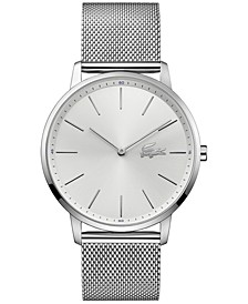 Men's Moon Stainless Steel Mesh Bracelet Watch 40mm