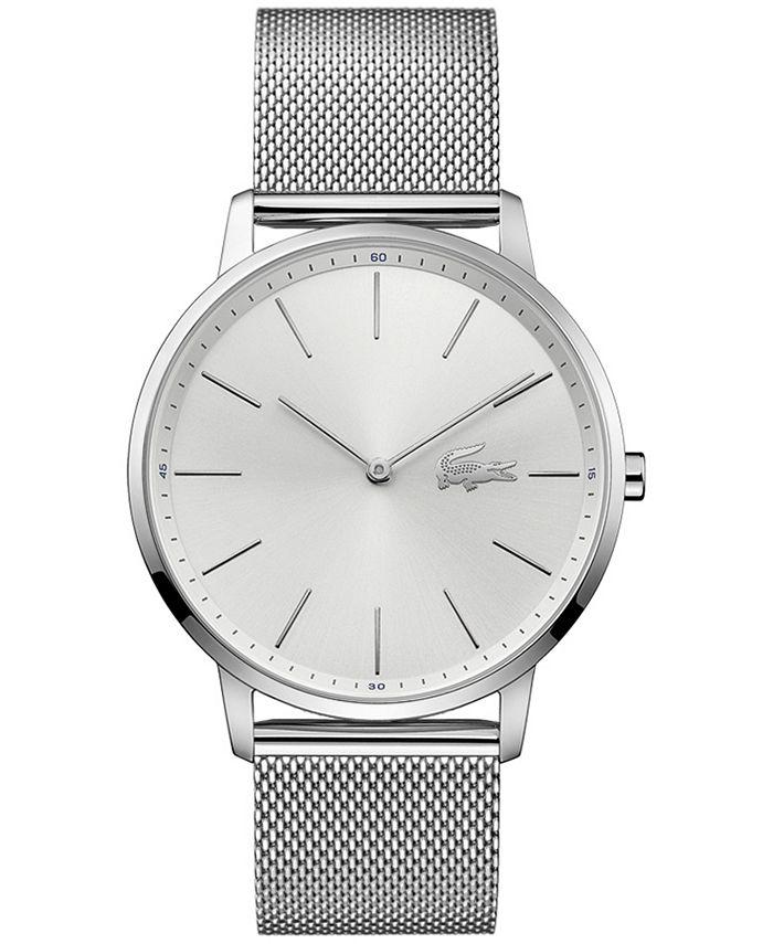 Lacoste - Men's Moon Stainless Steel Mesh Bracelet Watch 40mm