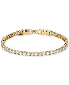 Gold-Tone Crystal Tennis Bracelet