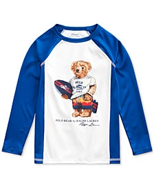 Little Boys Surfer Bear Stretch Rash Guard