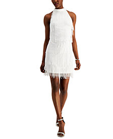 Adrianna Papell Beaded Fringe Dress