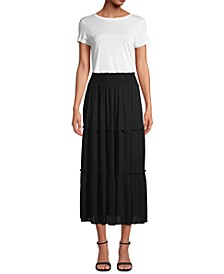 Petite Tiered Maxi Skirt