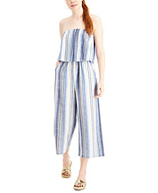 Be Bop Juniors' Strapless Gaucho Jumpsuit