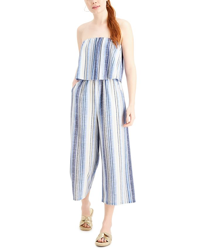 Be Bop - Juniors' Strapless Gaucho Jumpsuit