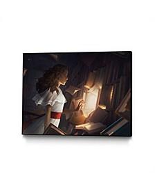 "Charlie Bowater The Reader Art Block Framed Canvas 44"" x 33"""