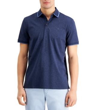 Calvin Klein Men's Short Sleeve Tipped Collar Polo Shirt
