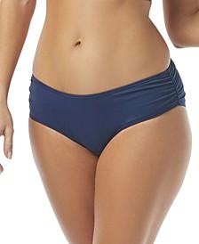 Ruched Hipster Bikini Bottoms