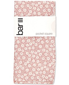 Men's Harpeth Floral-Print Cotton Pocket Square, Created for Macy's