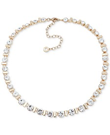 """Gold-Tone Crystal All-Around Statement Necklace, 16"""" + 3"""" extender"""