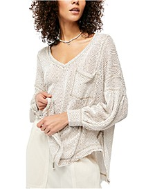 Fresh And New Patch Pocket V-Neck Sweater