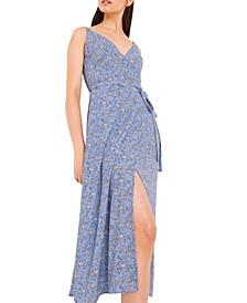 Sweetheart Verona Floral-Print Faux-Wrap Dress