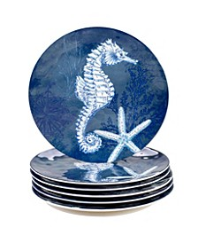 Oceanic Melamine 6-Pc. Dinner Plates