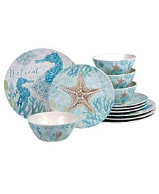 Beachcomber 12-Pc. Dinnerware Set