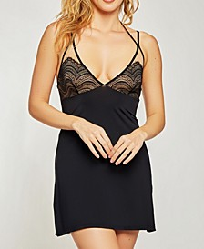 Women's Lace Detail Chemise Nightgown, Online Only