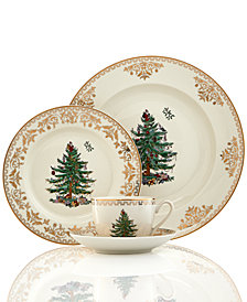 Spode Christmas Tree Gold 4-Pc. Place Setting