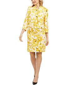 Printed Sheath Dress & Blazer
