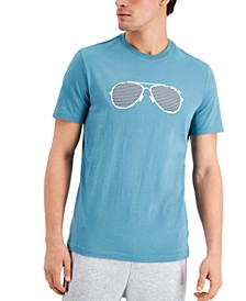 Men's Stripe Aviator Graphic T-Shirt, Created for Macy's