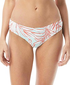 Shirred Printed Bikini Bottoms