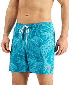 "Men's Naples Desert Fronds UPF 30 Botanical-Print 6"" Swim Trunks"