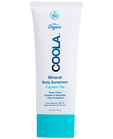 Mineral Body Organic Sunscreen Lotion SPF 50 - Fragrance Free, 3.4-oz.